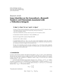 "Báo cáo hóa học: ""  Research Article Some Identities on the Generalized q-Bernoulli Numbers and Polynomials Associated with q-Volkenborn Integrals"""