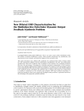 "Báo cáo hóa học: ""  Research Article New Dilated LMI Characterization for the Multiobjective Full-Order Dynamic Output Feedback """