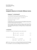 "Báo cáo hóa học: ""   Research Article Asymptotic Behavior of a Periodic Diffusion System"""