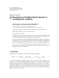 "Báo cáo hóa học: ""   Research Article On Boundedness of Weighted Hardy Operator in Lp · and Regularity Condition"""