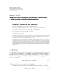 """Báo cáo hóa học: """"   Research Article Some Iterative Methods for Solving Equilibrium Problems and Optimization Problems"""""""