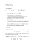 "Báo cáo hóa học: ""   Research Article Generalization of an Inequality for Integral Transforms with Kernel and Related Results"""