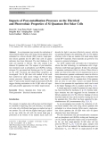 """Báo cáo hóa học: """"  Impacts of Post-metallisation Processes on the Electrical and Photovoltaic Properties of Si Quantum Dot Solar Cells"""""""