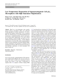 """Báo cáo hóa học: """"  Low-Temperature Preparation of Superparamagnetic CoFe2O4 Microspheres with High Saturation Magnetization"""""""