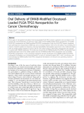 """Báo cáo hóa học: """"   Oral Delivery of DMAB-Modified DocetaxelLoaded PLGA-TPGS Nanoparticles for Cancer Chemotherapy"""""""