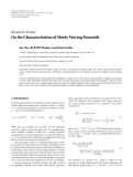 "Báo cáo hóa học: ""  Research Article On the Characterization of Slowly Varying Sinusoids"""