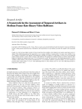 """Báo cáo hóa học: """"  Research Article A Framework for the Assessment of Temporal Artifacts in Medium Frame-Rate Binary Video Halftones"""""""