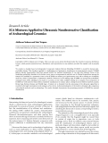 "Báo cáo hóa học: ""  Research Article ICA Mixtures Applied to Ultrasonic Nondestructive Classification of Archaeological Ceramics Addisson Salazar and Luis Vergara"""