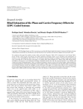 """Báo cáo hóa học: """"   Research Article Blind Estimation of the Phase and Carrier Frequency Offsets for LDPC-Coded Systems"""""""