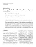 """Báo cáo hóa học: """"  Research Article Semi-Fragile Zernike Moment-Based Image Watermarking for Authentication"""""""