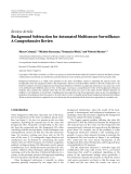 "Báo cáo hóa học: ""  Review Article Background Subtraction for Automated Multisensor Surveillance: A Comprehensive Review"""
