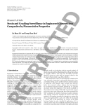 """Báo cáo hóa học: """"  Research Article Strain and Cracking Surveillance in Engineered Cementitious Composites by Piezoresistive Properties"""""""