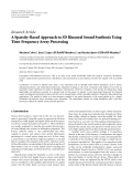 "Báo cáo hóa học: ""  Research Article A Sparsity-Based Approach to 3D Binaural Sound Synthesis Using Time-Frequency Array Processing"""