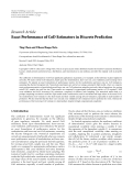 "Báo cáo hóa học: "" Research Article Exact Performance of CoD Estimators in Discrete Prediction"""