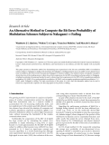 "Báo cáo hóa học: "" Research Article An Alternative Method to Compute the Bit Error Probability of Modulation Schemes Subject to Nakagami-m Fading"""