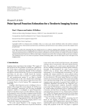 "Báo cáo hóa học: ""  Research Article Point Spread Function Estimation for a Terahertz Imaging System"""