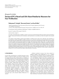 """Báo cáo hóa học: """"  Research Article Fusion of PCA-Based and LDA-Based Similarity Measures for Face Verification"""""""