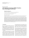 "Báo cáo hóa học: "" Research Article A New Scheme for the Design of Hilbert Transform Pairs of Biorthogonal Wavelet Bases Hongli Shi and Shuqian Luo"""