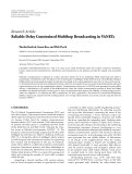 "Báo cáo hóa học: "" Research Article Reliable Delay Constrained Multihop Broadcasting in VANETs"""