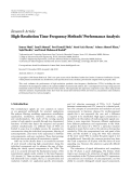 "Báo cáo hóa học: "" Research Article High-Resolution Time-Frequency Methods' Performance Analysis"""