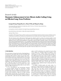 "Báo cáo hóa học: ""  Research Article Harmonic Enhancement in Low Bitrate Audio Coding Using an Efficient Long-Term Predictor"""