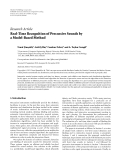 "Báo cáo hóa học: "" Research Article Real-Time Recognition of Percussive Sounds by a Model-Based Method"""
