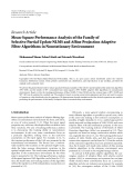 """Báo cáo hóa học: """" Research Article Mean-Square Performance Analysis of the Family of Selective Partial Update NLMS and Affine Projection Adaptive Filter Algorithms in Nonstationary Environment"""""""