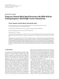 "Báo cáo hóa học: "" Research Article Frequency-Domain Block Signal Detection with QRM-MLD for Training Sequence-Aided Single-Carrier Transmission"""