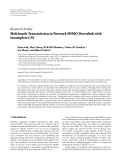 "Báo cáo hóa học: ""  Research Article Multimode Transmission in Network MIMO Downlink with Incomplete CSI"""