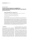 "Báo cáo hóa học: "" Research Article Iterative Successive Interference Cancellation for Quasi-Synchronous Block Spread CDMA Based on the Orders of the Times of Arrival"""