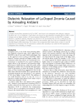 """Báo cáo hóa học: """"  Dielectric Relaxation of La-Doped Zirconia Caused by Annealing Ambient"""""""