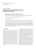 """Báo cáo hóa học: """" Research Article A Study on Event-Driven TDMA Protocol for Wireless Sensor Networks"""""""