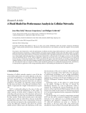 """Báo cáo hóa học: """" Research Article A Fluid Model for Performance Analysis in Cellular Networks"""""""