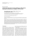 """Báo cáo hóa học: """"  Research Article A Cross-Layer Approach in Sensing and Resource Allocation for Multimedia Transmission over Cognitive UWB Networks"""""""