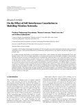 "Báo cáo hóa học: "" Research Article On the Effect of Self-Interference Cancelation in MultiHop Wireless Networks"""