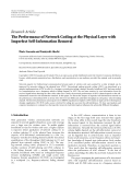 """Báo cáo hóa học: """" Research Article The Performance of Network Coding at the Physical Layer with Imperfect Self-Information Removal"""""""