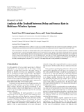"Báo cáo hóa học: ""  Research Article Analysis of the Tradeoff between Delay and Source Rate in Multiuser Wireless Systems"""