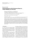 "Báo cáo hóa học: ""  Research Article Partial Interference and Its Performance Impact on Wireless Multiple Access Networks"""