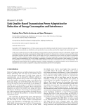 "Báo cáo hóa học: ""  Research Article Link Quality-Based Transmission Power Adaptation for Reduction of Energy Consumption and Interference"""