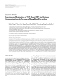 """Báo cáo hóa học: """" Research Article Experimental Evaluation of TCP-Based DTN for Cislunar Communications in Presence of Long Link Disruption"""""""