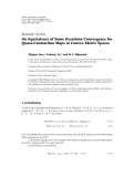 "Báo cáo hóa học: ""  Research Article On Equivalence of Some Iterations Convergence for Quasi-Contraction Maps in Convex Metric Spaces"""