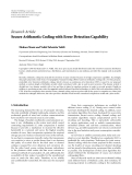 """Báo cáo hóa học: """" Research Article Secure Arithmetic Coding with Error Detection Capability"""""""