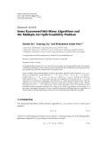 "báo cáo hóa học:"" Research Article Some Krasnonsel'ski˘-Mann Algorithms and ı the Multiple-Set Split Feasibility Problem"""