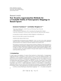 """báo cáo hóa học:""""  Research Article New Iterative Approximation Methods for a Countable Family of Nonexpansive Mappings in Banach Spaces"""""""
