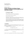 "báo cáo hóa học:""  Research Article Iterative Algorithms for Finding Common Solutions to Variational Inclusion Equilibrium and Fixed Point Problems"""