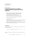 """báo cáo hóa học:"""" Research Article On Homoclinic Solutions of a Semilinear p-Laplacian Difference Equation with Periodic Coefficients"""""""