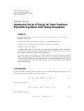 """báo cáo hóa học:""""  Research Article Exponential Decay of Energy for Some Nonlinear Hyperbolic Equations with Strong Dissipation Yaojun Ye"""""""