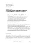 "báo cáo hóa học:""  Research Article Asymptotic Behavior of Equilibrium Point for a Family of Rational Difference Equations"""