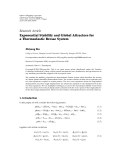 "báo cáo hóa học:""  Research Article Exponential Stability and Global Attractors for a Thermoelastic Bresse System"""