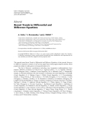 """báo cáo hóa học:"""" Editorial Recent Trends in Differential and Difference Equations"""""""